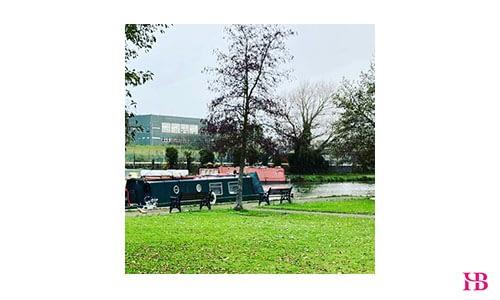 River Lea in Hoddesdon, Hertfordshire